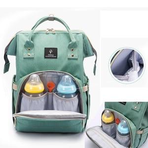 Image 2 - Fashion Maternity Nappy Bag With USB Interface Large Capacity Waterproof Diaper Bag Kits Backpack Maternity Nursing Baby Bag