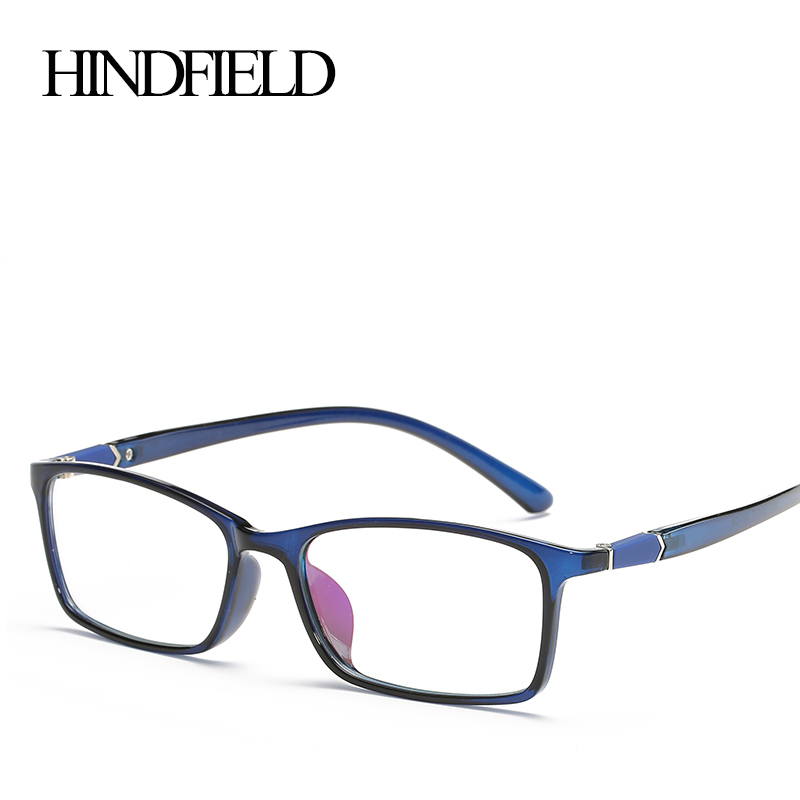 HINDFIELD Classic TR90 Optical Square Spectacle Glasses Eyewear Frame Vintage Computer Glasses Frame Women Oculos Gafas de sol