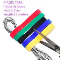 1PCS LOT YT1884 Magic Tape Strap Cable Tie Wide 1 5 Cm Length 25 Meters Nylon