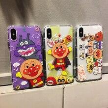 Cute Cartoon Anpanman Baikinman Soft TPU Case For iPhone XS XR MAX Anti-knock X 6 6S 7 8 Plus