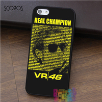 Valentino Rossi VR46 Real Champion Moto GP Fashion Cell Phone Case For Iphone 4 4s 5
