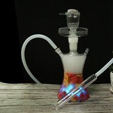 الفاكهة الشيشة led الزجاج روسيا الشيشة led الفن الشيشة كبير التدخين منفصلة أسفل الجذعية تصميم يمكن وضعها في الفواكه خرطوم سيليكون واضحة