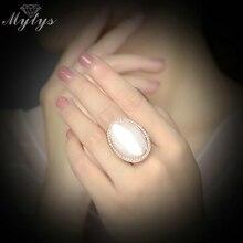 Mytys Кристалл Кружева Круглый Опал в форме мороженого античные кольца для женщин дизайн модные украшения R1818