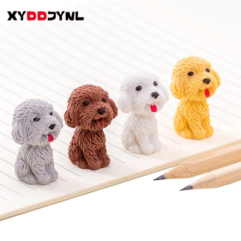 1 Pcs Creative Cute Cartoon Dog Eraser Kawaii Stationery Pencil Rubber Eraser Student Kids Gifts School Office Supplies