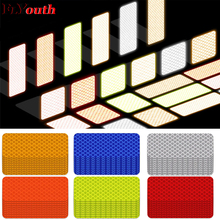 3X8cm Car Reflective Strip Warning Tape Bumper Strips Secure Reflector Stickers Decals Styling