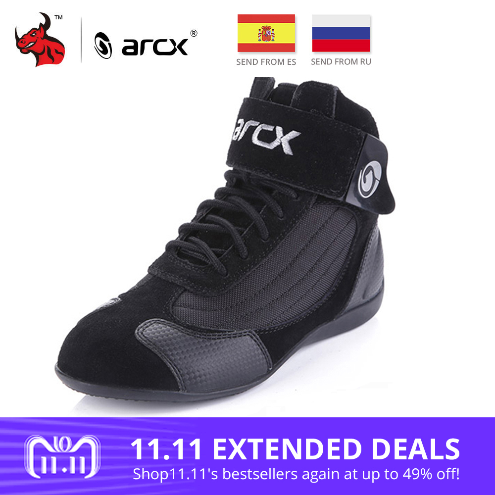ARCX Motorcycle Boots Moto Riding Boots Genuine Cow Leather Motorbike Biker Chopper Cruiser Touring Ankle Shoes Motorcycle Shoes arcx motorcycle road racing shoes genuine cow leather motorbike street moto chopper cruiser touring biker riding ankle boots