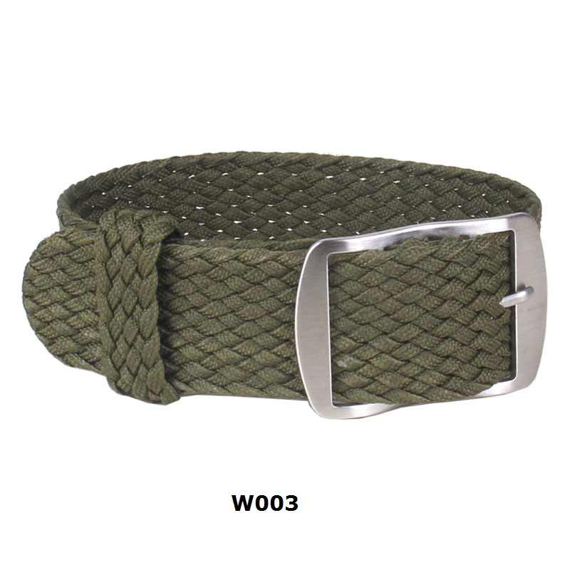 20mm 22mm ניילון Perlon ארוג watchbands צמיד Cambo הצבא צבאי בד ארוג שעון רצועת להקת אבזם חגורה שחור /לבן/אדום