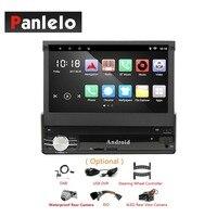 Аудиомагнитолы автомобильные Android 1 Din gps навигации телескопическая 7 дюймов Сенсорное Зеркало Ссылка Bluetooth Wi Fi 4 ядра 6,0 стерео + ISO