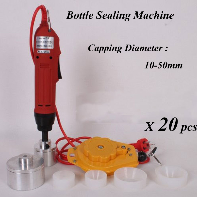 20 Sets Electric Capping Tools Equipment Handheld Pharmaceutical Bottle Capper Foils Jar Locking Machine 30 sets best cap making machinery handheld electric capping machine screw machine easy operation hand capper 10 50mm