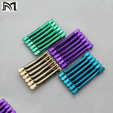 12 шт/кор цветная заколка для волос из нержавеющей стали с краном