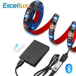 Bande lumineuse étanche, bande d'éclairage RGB Led, à piles, LED, Led Bluetooth, 1M 2M, Led, ruban d'éclairage étanche, ruban d'éclairage RF à 17 touches