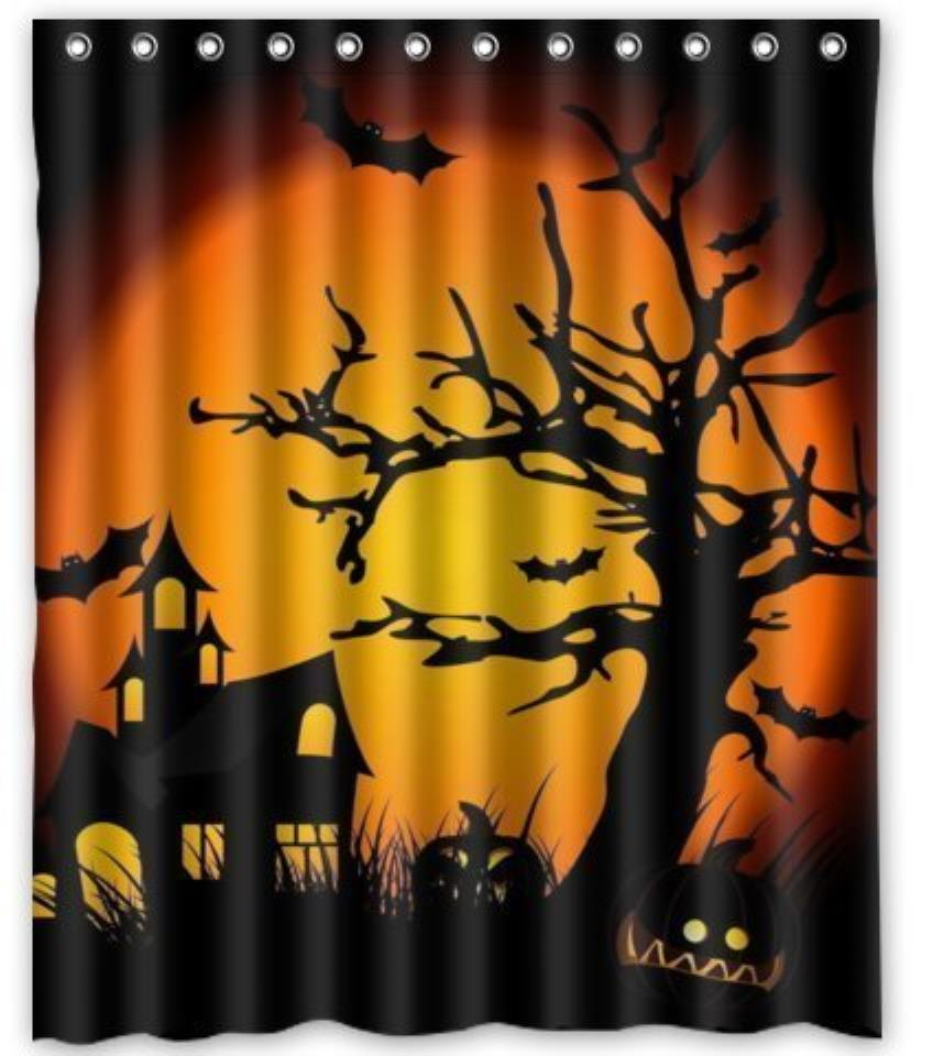 Halloween shower curtain - Happy Halloween Shower Curtain Pattern Customized Shower Curtain Waterproof Bathroom Fabric Shower Curtain For Bathroom
