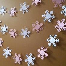 Зимние onederland день декор, 10FT гирлянда снежинки баннеры Свадебные душ партия выступает