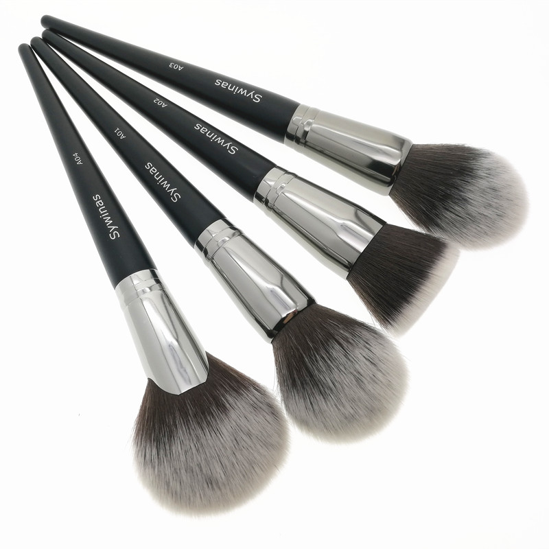 Sywinas 4pcs professional makeup brushes set face blending powder foundation cosmetics contour make up brushes. 1