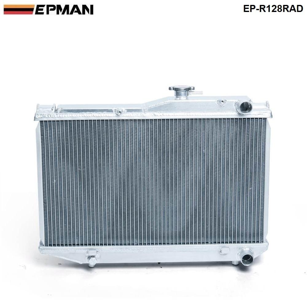 For Toyota Corolla AE86 83-87 MT Aluminum 2 Row Dual Core Aluminum Radiator  EP