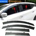 Stylingg Toldos Abrigos 4 pçs/lote Viseiras Da Janela do carro Para Nissan Murano 2011-2016 Sol Chuva Escudo Adesivos Covers