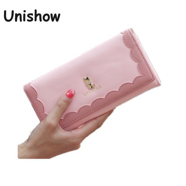 Fashion Cat Wallets Brand Design High Quality Women Wallets 2017 Pu Leather Hasp Wallet Long Women Purse Clutch Carteira