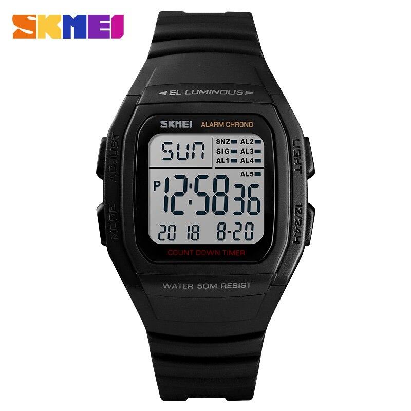 59850656a82 Nova Mens Relógios Desportivos SKMEI Marca Pressão da Contagem Regressiva  do Relógio Horas Altímetro Bússola Termômetro