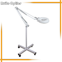 220V 10x Floor Stand White Optical Glass Lens 30 LED Illuminated Big Magnifying Glass Large Lamp Magnifer with LED Light