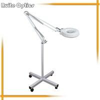 220V 10x Floor Stand White Optical Glass Lens 30 LED Illuminated Big Magnifying Glass Large Lamp Magnifer with LED Light