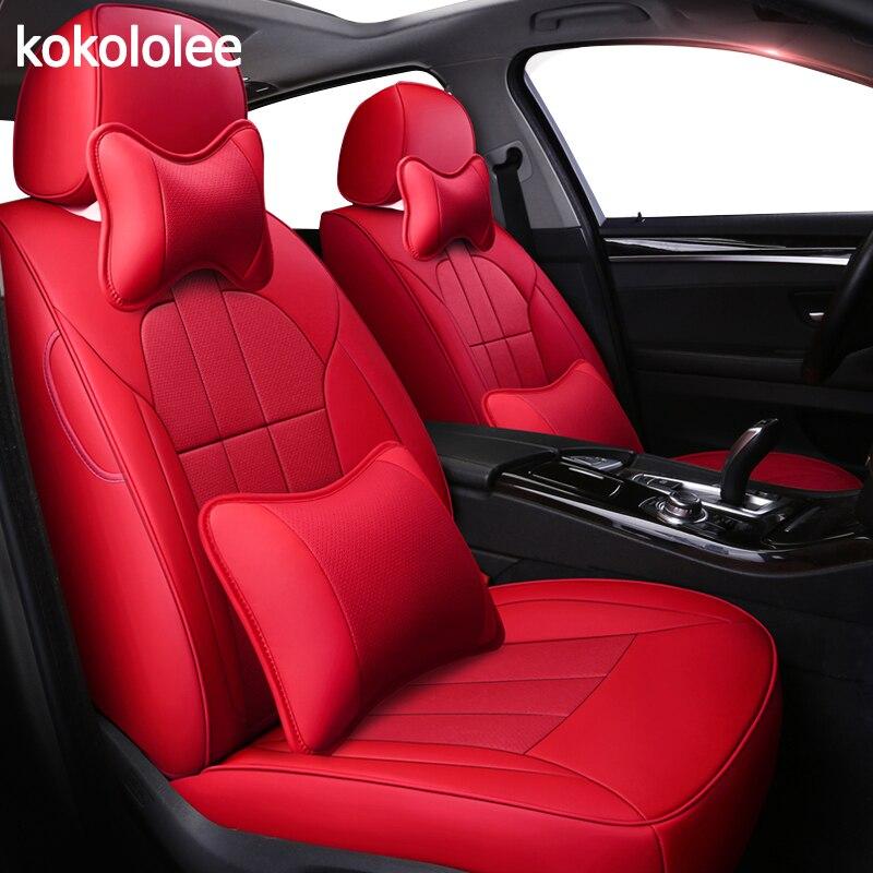 Kokololee personalizzato in vera pelle copertura di sede dell'automobile per Dodge Caliber Avenger Viaggio Challenger Charger Automobiles Sedile Coperture