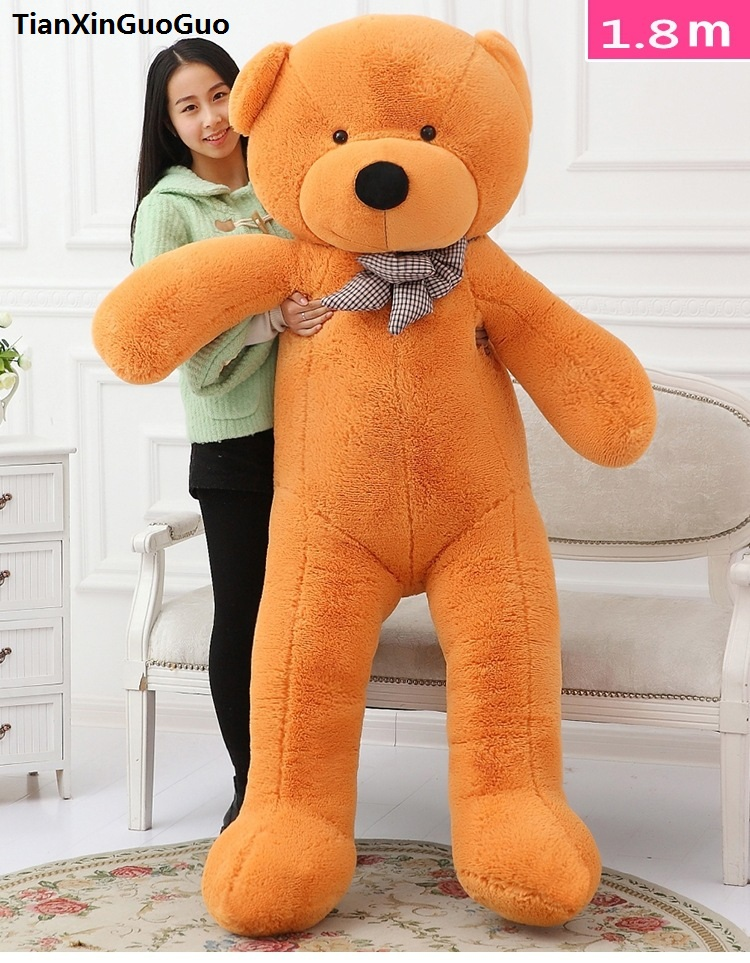 fillings toy light brown Teddy bear plush toy stuffed bear huge 180cm soft doll hugging pillow Christmas gift b2778 stuffed fillings toy huge 160cm hot pink apple fruit teddy bear plush toy bear doll soft throw pillow christmas gift b0797