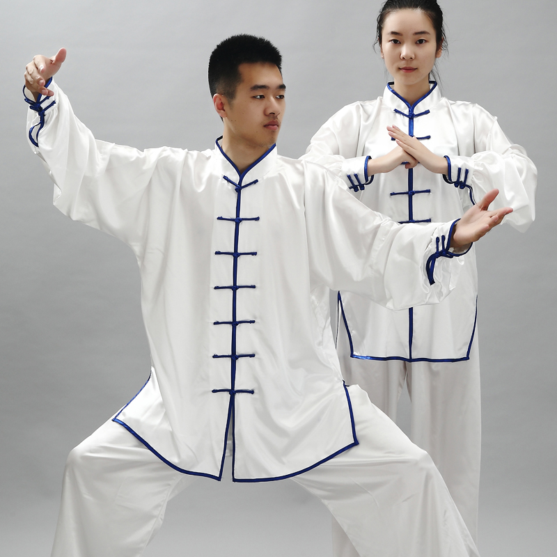 Fashion Long Sleeve Wushu TaiChi KungFu Uniform Suit 14 Color Morning Exercise The Martial Arts Performance Wear Clothing