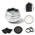 new arrive fujian 35mm f1.6 C mount camera Lens II+NEX adapter for Sony NEX E-mount camera & Adapter bundle silver free shipping