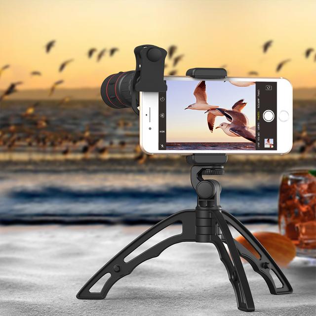APEXEL 18X Telescope Mobile Phone Lens Monocular lens with 3 in 1 fisheye wide macro lens+mini tripod for iPhone other cellphone 3