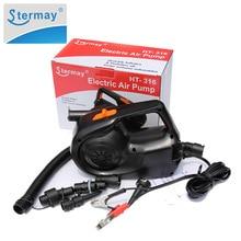 Stermay HT 316 12V Auto Batterie Klemme 100W Power aufblasbare pumpe elektrische luftpumpe Für aufblasbare boot Schwimmen pool bett matratze