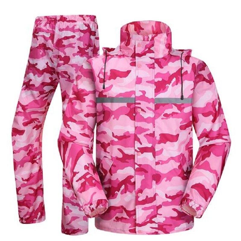 Camouflage femmes adulte imperméable pluie pantalon randonnée Tour imperméables hommes imperméable pluie manteau pluie pantalon ensemble vêtements de pluie pour moto
