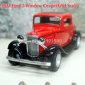 A estrenar KINGSMART escala 1/32 ee.uu. 1932 Ford ventanas Coupe Vintage Diecast Metal tira del modelo del coche de juguete para / regalo de los niños