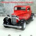 Nova marca KINGSMART 1/32 escala eua 1932 Ford Coupe 3-janela Vintage Diecast Metal Pull Back Car Toy / crianças