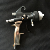 SAT1205 high quality auto paint spray gun for painting walls air pressure feed sprayer double nozzle manual power coating gun