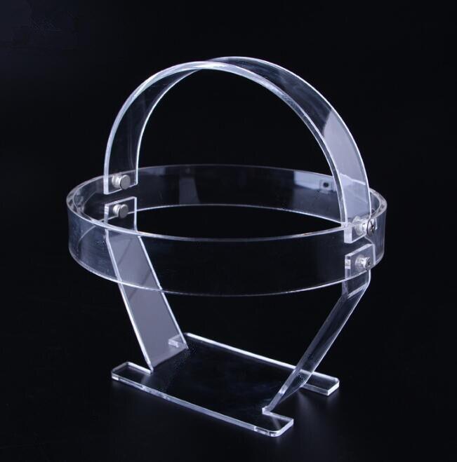Hot Promotion Led Headlamp display stand acrylic Headlight Waterproof Head lamp Hunting Flashlight shelf cap hat wig holder rack(China)