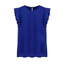 1PCS Womens Female Shirt Clothing Summer Blouse Lady Shirt New Fashion Ruffle Short Sleeve OL Female Blouses Women Shirt 2017