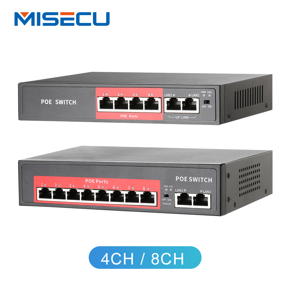 4 2Ports POE Switch IEEE 802.3af//at Power over Ethernet for CCTV IP Camera