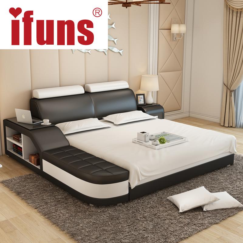 nombre ifuns lujo moderno diseo de muebles de dormitorio king y queen size cama de cuero genuino con de tatami