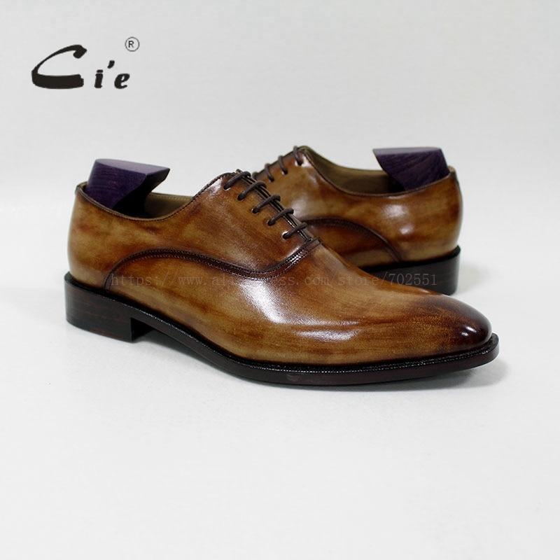 cie square plain toe handmade 100%genuine calf leather breathable men's dress oxford blake craft patina brown shoe OX-01-16 купить часы haas lt cie mfh211 zsa