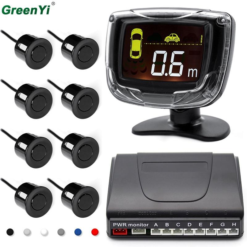 Автомобиль светодиодный парковка Сенсор 8 Сенсор s 22 мм DC 12 В для всех автомобилей обратный резервный Антирадары Подсветка Дисплей монитор Системы