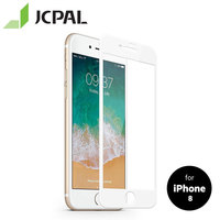 JCPAL Presever Glass Screen Protector for iPhone 8/7 with 9H Level Scratch Protection Anti fingerprint Easy to Install 51423|Phone Screen Protectors| |  -