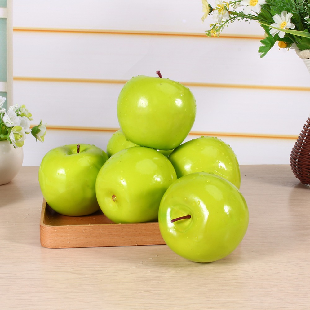 6pcs artificial apple large home table decorative ornament for Artificial pears decoration