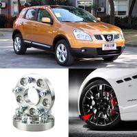 Jinke 4pcs 1 Wheel Spacers Adapters 5 Lug 5x4.5/5x114.3 12x1.25 Studs For Nissan Qashqai 2008+
