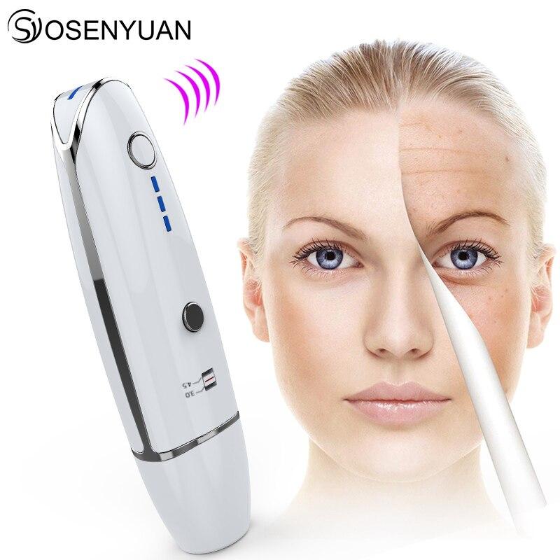 ¡El más nuevo! Mini máquina de belleza HIFU línea V forma Anti arrugas para apretar la piel ultrasonido cara máquina de elevación con regalo gratis-in Herramientas de cuidado de la piel para la cara from Belleza y salud    2