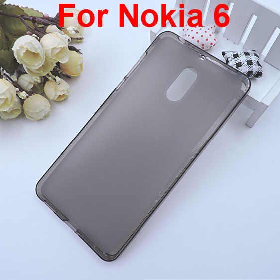 """עבור NOKIA 6 מקרה tpu מגן מלא fundas, עבור Nokia6 5.5 """"סוכריות הצבע tpu רך עור הכיסוי חזרה מגן עבור Nokia 6 5.5 inch"""