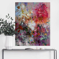Handmade Thick Knife Abstract High Quality Oil Painting Spring Tie Dyeing On Canvas Painting Decor Oil