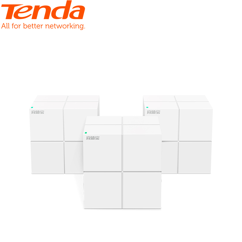 3PCS Tenda Nova MW6 Whole Home Mesh WiFi System, 11AC Dual Band Wireless Router Wi-Fi Repeater, Works With Alexa, Plug And Play
