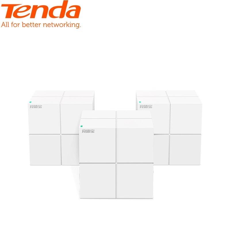 Système Gigabit de routeur WiFi sans fil de WiFi de maille de maison entière de Tenda Nova MW6 avec AC1200 2.4G/5.0 GHz, installation facile, Manag à distance d'app