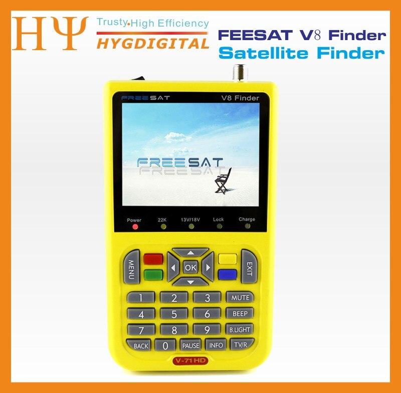 Freesat V8 Finder 2pcs DVB-S2 vs satlink 6906 Satellite Finder Support 1080P HD Freesat Finder V8 With 3.5 inch LCD Display digital tv satellite receiver freesat v8 super dvb tuner support newcamd cccamd ccam dvb s2 hd fta freesat v8 receiver usb wifi