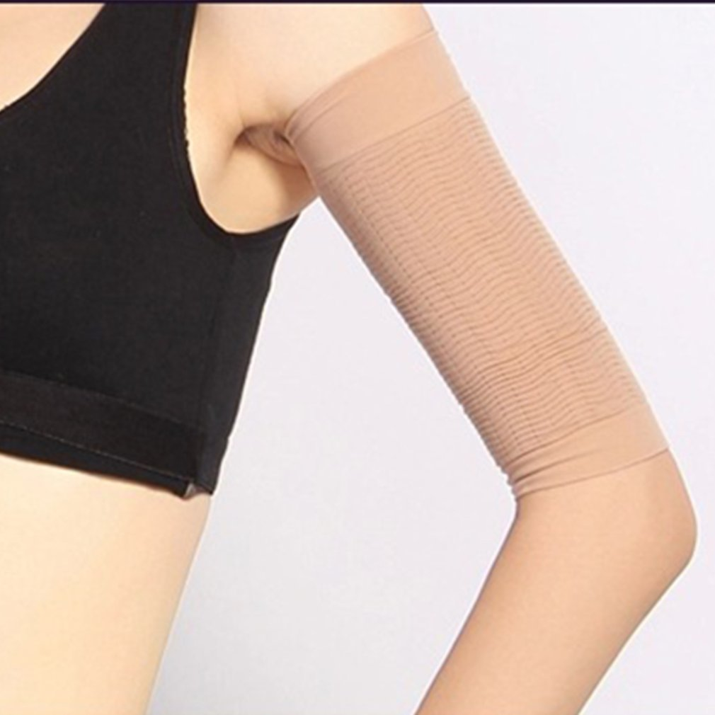 1 Pair 420D Compression Slimming Arms Sleeves Workout Toning Burn Cellulite Shaper Fat Burning Sleeves for Women Sports image